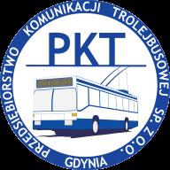 Logo of PKT Trolleybus Company Gdynia.