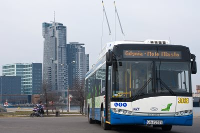 A Gdynia trolleybus run by PKT.