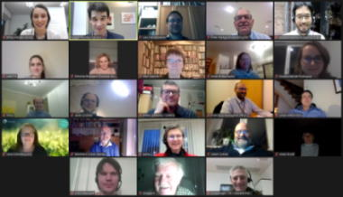 Screenshot of conference participants.